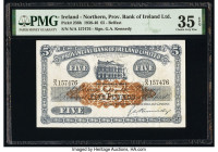 Ireland - Northern Provincial Bank of Ireland Limited 5 Pounds 1938-46 Pick 236b PMG Choice Very Fine 35 EPQ.   HID09801242017  © 2020 Heritage Auctio...