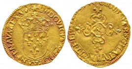 Louis XIII 1610-1643 Ecu d'or au soleil, Aix, date illisible, &, AU 3.39 g. Ref : G. 55, Fr. 398 Conservation : Superbe