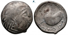 "Eastern Europe. Mint in the northern Carpathian region 200-100 BC. ""Schnabelpferd"" type. Tetradrachm AR"