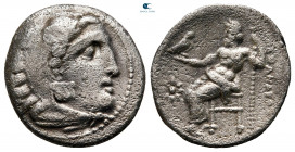 Kings of Macedon. Kolophon. Philip III Arrhidaeus 323-317 BC. In the name and types of Alexander the Great. Drachm AR