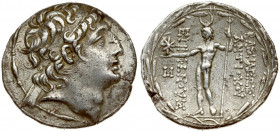 Greece Seleukid 1 Tetradrachma Antiochos VIII Epiphanes 121-97 BC. Diademed head of Antiochos right within fillet border / ΒAΣΙΛEΩΣ ΑNTIOXOY EΠIΦANOYΣ...