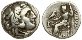 Greece Macedon 1 Drachma Alexander III The Great 336-323 BC Kolophon mint; posthum ca. 310 - 301. Averse: Head of Herakles right; wearing lion skin he...