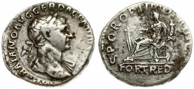 Roman Empire 1 Denarius Traianus AD 98-117. Roma. Av.: IMP CAES NER TRAIAN OPTIM AVG GERM DAC. laurel-covered draped bust on the right. Rv.: PARTHICO ...