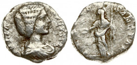 Roman Empire 1 Denarius Julia Domna AD 193-217. Roma. Averse: IVLIA AVGVSTA Draped bust of Julia right. Reverse: VESTAE SANCTAE Venus standing left ho...