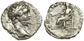 Roman Empire 1 Denarius Septimius Severus AD 193-211. Roma. 196-197AD. L SEPT SEV PERT - AVG IMP VIII. Head with laurel wreath on the right. Rs: P M T...