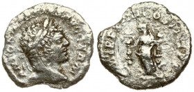 Roman Empire 1 Denarius Caracalla AD 198-217. Roma. AD 215. ANTONINVS PIVS AVG GERM laureate head of Caracalla right. Reverse P M TR P XVIII COS IIII ...