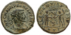 Roman Empire 1 Antoninianus Probus (276-282). Antioch. Av: IMP C M AVR PROBVS P F AVG. Radiate draped and cuirassed bust right. Rev: CLEMENTIA TEMP / ...