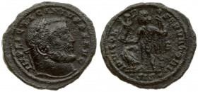Roman Empire 1 Follis Licinius I. A.D. 308-324. Æ follis Siscia. A.D. 315/6. IMP LIC LICINIVS P F AVG laureate head of Licinius I right / IOVI CON-SER...