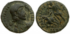 Roman Empire 1 Maiorina Constantius Gallus (351-354) Alexandria. Draped and cuirassed bust of Constantius Gallus to right; Δ behind neck. Soldier spea...