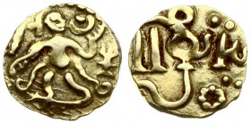 Sri Lanka ¼-Kahavanu ca.960-1070. (Ceylon) Anonymous Coinage of the Sri Lankan Kings . ¼-Kahavanu (Mitch T-K 314); Gold. (1.09 gm)