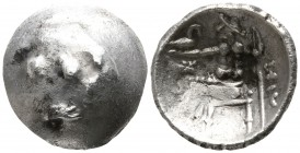 Eastern Europe.  Imitations of Alexander III 'the Great' of Macedon circa 300-100 BC. Drachm AR
