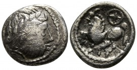 Eastern Europe. Imitations of Philip II of Macedon 100 BC. Drachm AR