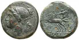 Bruttium. The Brettii 211-208 BC. Reduced Semuncia Æ