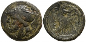Bruttium. The Brettii circa 211-208 BC. Double Unit AE