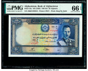 Afghanistan Bank of Afghanistan 50 Afghanis ND (1939) / SH1318 Pick 25a PMG Gem Uncirculated 66 EPQ.   HID09801242017  © 2020 Heritage Auctions | All ...