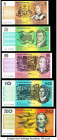 Australia Australia Reserve Bank 50; 100 Dollars ND (1994); ND (1992) Pick 47i; 48d Two Examples PMG Gem Uncirculated 65 EPQ; Gem Uncirculated 66 EPQ;...
