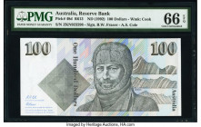 Australia Australia Reserve Bank 100 Dollars ND (1992) Pick 48d R613 PMG Gem Uncirculated 66 EPQ.   HID09801242017  © 2020 Heritage Auctions | All Rig...