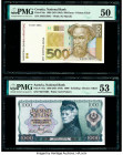 Austria National Bank 1000 Schilling 1966 (ND 1970) Pick 147a PMG About Uncirculated 53; Croatia National Bank 500 Kuna 1993 (ND 1994) Pick 34a PMG Ab...