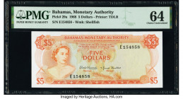 Bahamas Monetary Authority 5 Dollars 1968 Pick 29a PMG Choice Uncirculated 64.   HID09801242017  © 2020 Heritage Auctions | All Rights Reserved