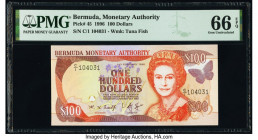 Bermuda Monetary Authority 100 Dollars 1996 Pick 45 PMG Gem Uncirculated 66 EPQ.   HID09801242017  © 2020 Heritage Auctions | All Rights Reserved