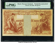 Brazil Thesouro Nacional 500 Mil Reis ND (1904) Pick 85 Partial Reconstruction PMG Holder.   HID09801242017  © 2020 Heritage Auctions | All Rights Res...