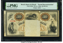 Brazil Banco Do Brazil 30 Mil Reis ND (ca. 1860) Pick S252a Partial Reconstruction PMG Holder.   HID09801242017  © 2020 Heritage Auctions | All Rights...