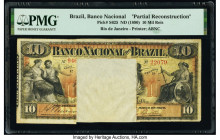 Brazil Banco Nacional 10 Mil Reis 1890 Pick S625 Partial Reconstruction PMG Holder.   HID09801242017  © 2020 Heritage Auctions | All Rights Reserved