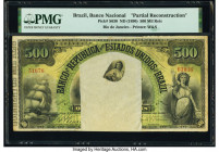 Brazil Banco Nacional 500 Mil Reis ND (1890) Pick S630 Partial Reconstruction PMG Holder.   HID09801242017  © 2020 Heritage Auctions | All Rights Rese...