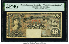 Brazil Banco da Republica 10 Mil Reis 9.1893 Pick S674 Partial Reconstruction PMG Holder.   HID09801242017  © 2020 Heritage Auctions | All Rights Rese...