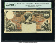 Brazil Banco da Republica 100 Mil Reis ND (1893) Pick S678 Partial Reconstruction PMG Holder.   HID09801242017  © 2020 Heritage Auctions | All Rights ...