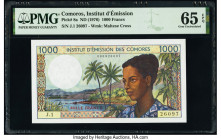 Comoros Institut d'Emission des Comores 1000 Francs ND (1976) Pick 8a PMG Gem Uncirculated 65 EPQ.   HID09801242017  © 2020 Heritage Auctions | All Ri...