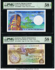 Comoros Banque Centrale Des Comores 2500 Francs ND (1997) Pick 13 PMG Choice About Unc 58 EPQ; Guernsey States of Guernsey 5 Pounds ND (1980-89) Pick ...