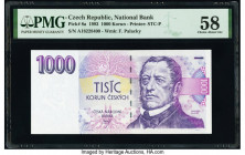 Czech Republic National Bank 1000 Korun 1993 Pick 8a PMG Choice About Unc 58.   HID09801242017  © 2020 Heritage Auctions | All Rights Reserved