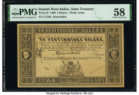 Danish West Indies State Treasury 2 Dalere 1898 Pick 8r Remainder PMG Choice About Unc 58.   HID09801242017  © 2020 Heritage Auctions | All Rights Res...