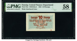 Danzig Central Finance Department 10 Pfennige 22.10.1923 Pick 35a PMG Choice About Unc 58.   HID09801242017  © 2020 Heritage Auctions | All Rights Res...