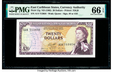East Caribbean States Currency Authority 20 Dollars ND (1965) Pick 15g PMG Gem Uncirculated 66 EPQ.   HID09801242017  © 2020 Heritage Auctions | All R...