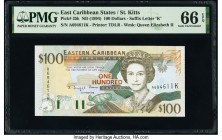 East Caribbean States Central Bank, St. Kitts 100 Dollars ND (1994) Pick 35k PMG Gem Uncirculated 66 EPQ.   HID09801242017  © 2020 Heritage Auctions |...
