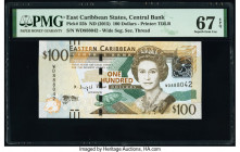 East Caribbean States Central Bank 100 Dollars ND (2015) Pick 55b PMG Superb Gem Unc 67 EPQ.   HID09801242017  © 2020 Heritage Auctions | All Rights R...