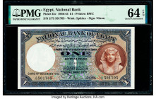 Egypt National Bank of Egypt 1 Pound 6.12.1943 Pick 22c PMG Choice Uncirculated 64 EPQ.   HID09801242017  © 2020 Heritage Auctions | All Rights Reserv...