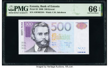 Estonia Bank of Estonia 500 Krooni 2000 Pick 83 PMG Gem Uncirculated 66 EPQ.   HID09801242017  © 2020 Heritage Auctions | All Rights Reserved