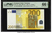 European Union Central Bank, Germany 200 Euro 2002 Pick 13x PMG Gem Uncirculated 66 EPQ.   HID09801242017  © 2020 Heritage Auctions | All Rights Reser...