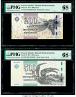 Faeroe Islands Foroyar 200; 500 Kronur 2011 Pick 31; 32 Two Examples PMG Superb Gem Unc 68 EPQ (2).   HID09801242017  © 2020 Heritage Auctions | All R...