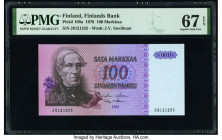Finland Finlands Bank 100 Markkaa 1976 Pick 109a PMG Superb Gem Unc 67 EPQ.   HID09801242017  © 2020 Heritage Auctions | All Rights Reserved