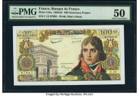France Banque de France 100 Nouveaux Francs 4.6.1959 Pick 144a PMG About Uncirculated 50. Pinholes.  HID09801242017  © 2020 Heritage Auctions | All Ri...