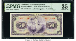Germany Federal Republic U.S. Army Command 50 Deutsche Mark 1948 Pick 7a PMG Choice Very Fine 35.   HID09801242017  © 2020 Heritage Auctions | All Rig...