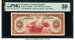 Germany Federal Republic U.S. Army Command 100 Deutsche Mark 1948 Pick 8a PMG Very Fine 30.   HID09801242017  © 2020 Heritage Auctions | All Rights Re...