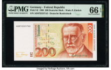 Germany Federal Republic Deutsche Bundesbank 200 Deutsche Mark 2.1.1989 Pick 42 PMG Gem Uncirculated 66 EPQ.   HID09801242017  © 2020 Heritage Auction...