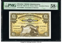Gibraltar Government of Gibraltar 5 Pounds 20.11.1975 Pick 19b PMG Choice About Unc 58 EPQ.   HID09801242017  © 2020 Heritage Auctions | All Rights Re...