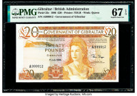 Gibraltar Government of Gibraltar 20 Pounds 1.7.1986 Pick 23c PMG Superb Gem Unc 67 EPQ.   HID09801242017  © 2020 Heritage Auctions | All Rights Reser...