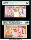 Gibraltar Government of Gibraltar 20; 50 Pounds 1.7.1995; 1.12.2006 Pick 27a; 34a Two Examples PMG Superb Gem Unc 67 EPQ (2).   HID09801242017  © 2020...